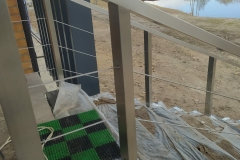 перила для лестницы металл вход
