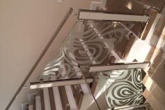 перила для лестниц стеклянные ограждения