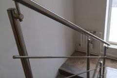 перила для лестниц металлические 2 ригеля
