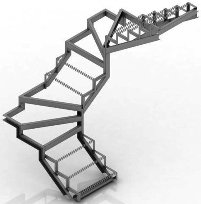Заказать металлический каркас для лестницы недорого